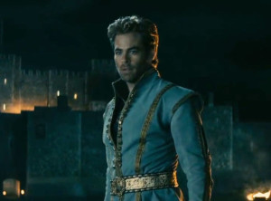 In some ways, Chris Pine plays more a parody of Shatner's Captain Kirk than he did in Star Trek. If only Sleeping Beauty had had green skin!