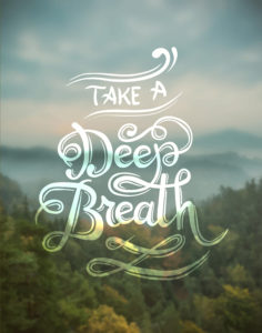 Digitally generated Take a deep breath vector